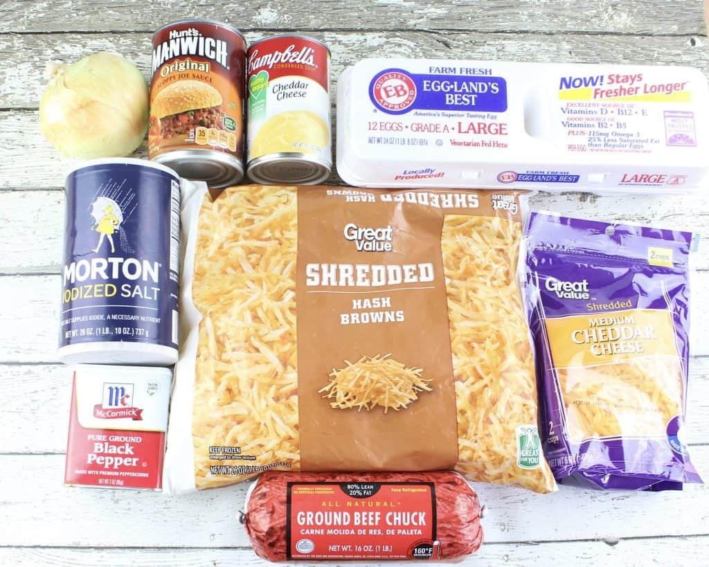 ingredients for sloppy joe casserole, slow cooker