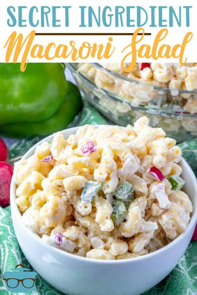 Secret Ingredient Macaroni Salad recipe from The Country Cook