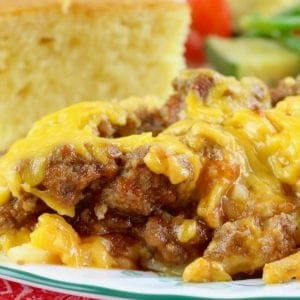 Crock Pot Sloppy Joe Casserole with Hash Browns