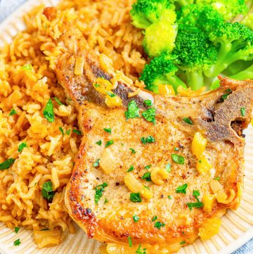 Baked Pork Chops and Rice recipe