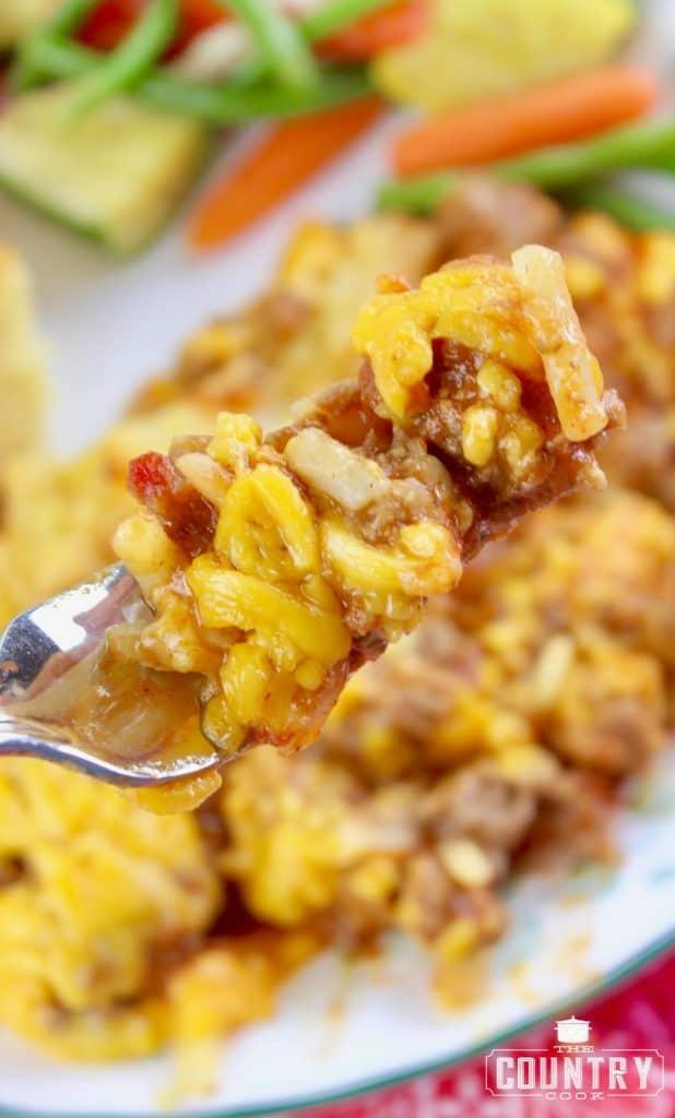 forkful, sloppy joe casserole