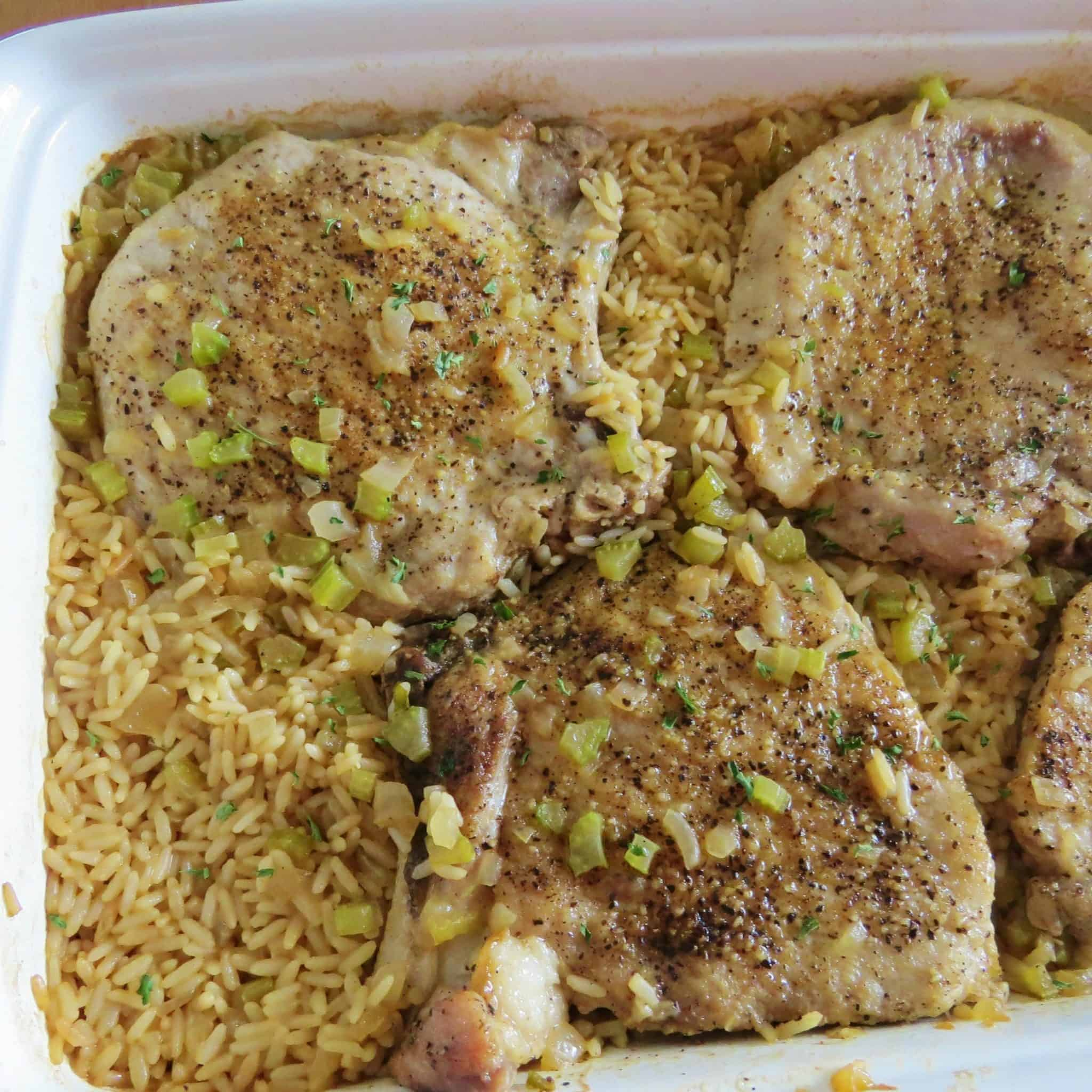 Country Pork Chops and Rice Casserole