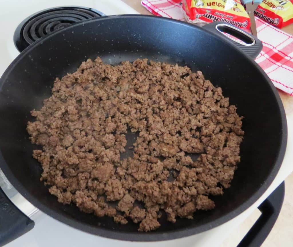 brown and crumble ground beef