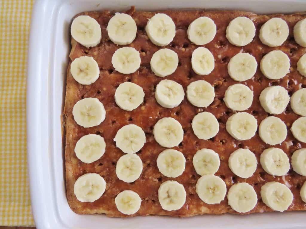 Bananas Foster Poke Cake