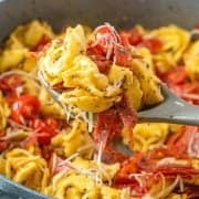 Easy Italian Cheese Tortellini Skillet Meal