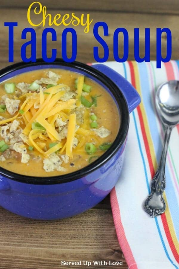 Cheesy Taco Soup recipe
