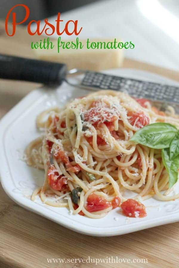Pasta with Fresh Tomatoes recipe