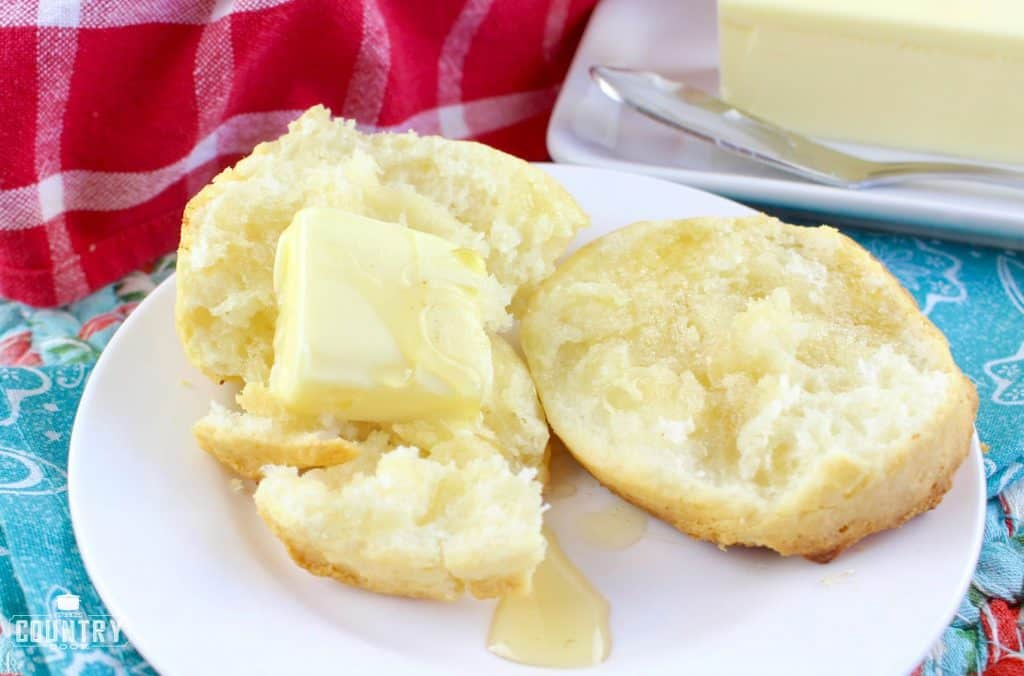 Biscuits with a pat of butter