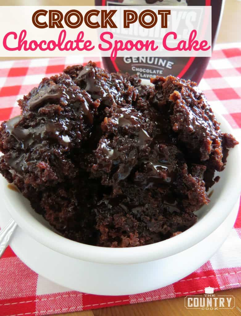 Crock Pot Chocolate Spoon Cake