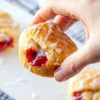 Crescent Roll Cherry Pie Bites