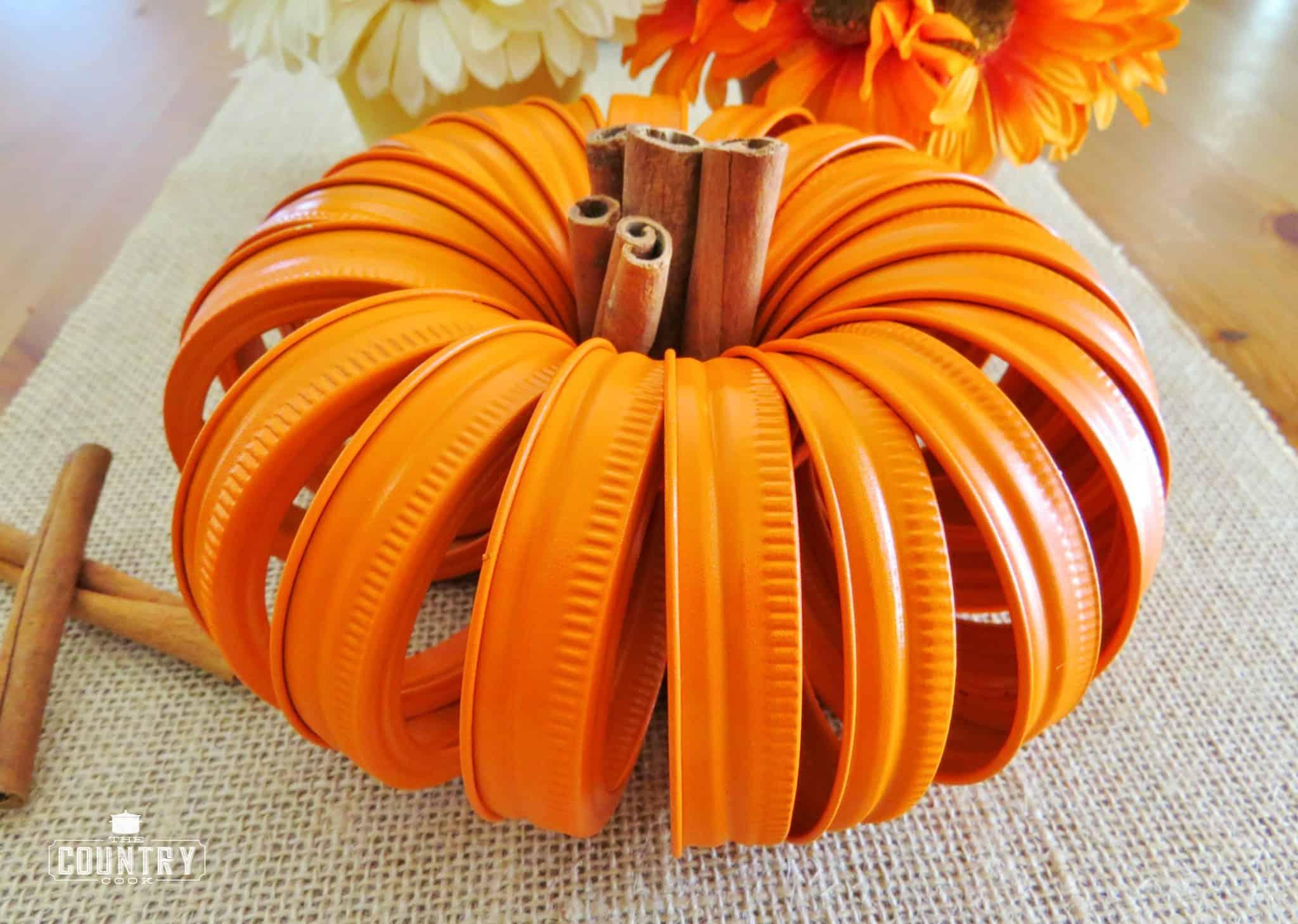 Mason Jar Lid Pumpkins Tutorial The