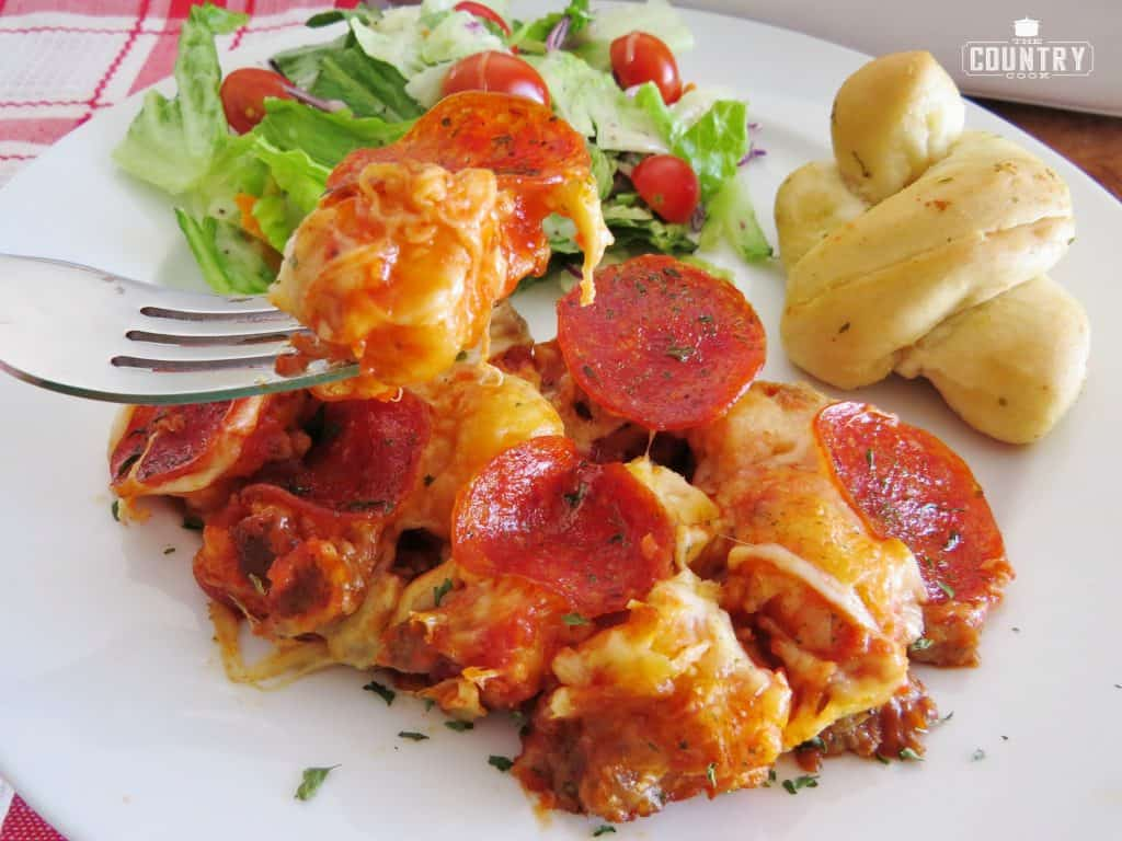 Bubble-Up Pizza Casserole recipe from The Country Cook