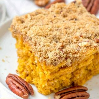 Pumpkin Pie Coffee Cake with Streusel Topping