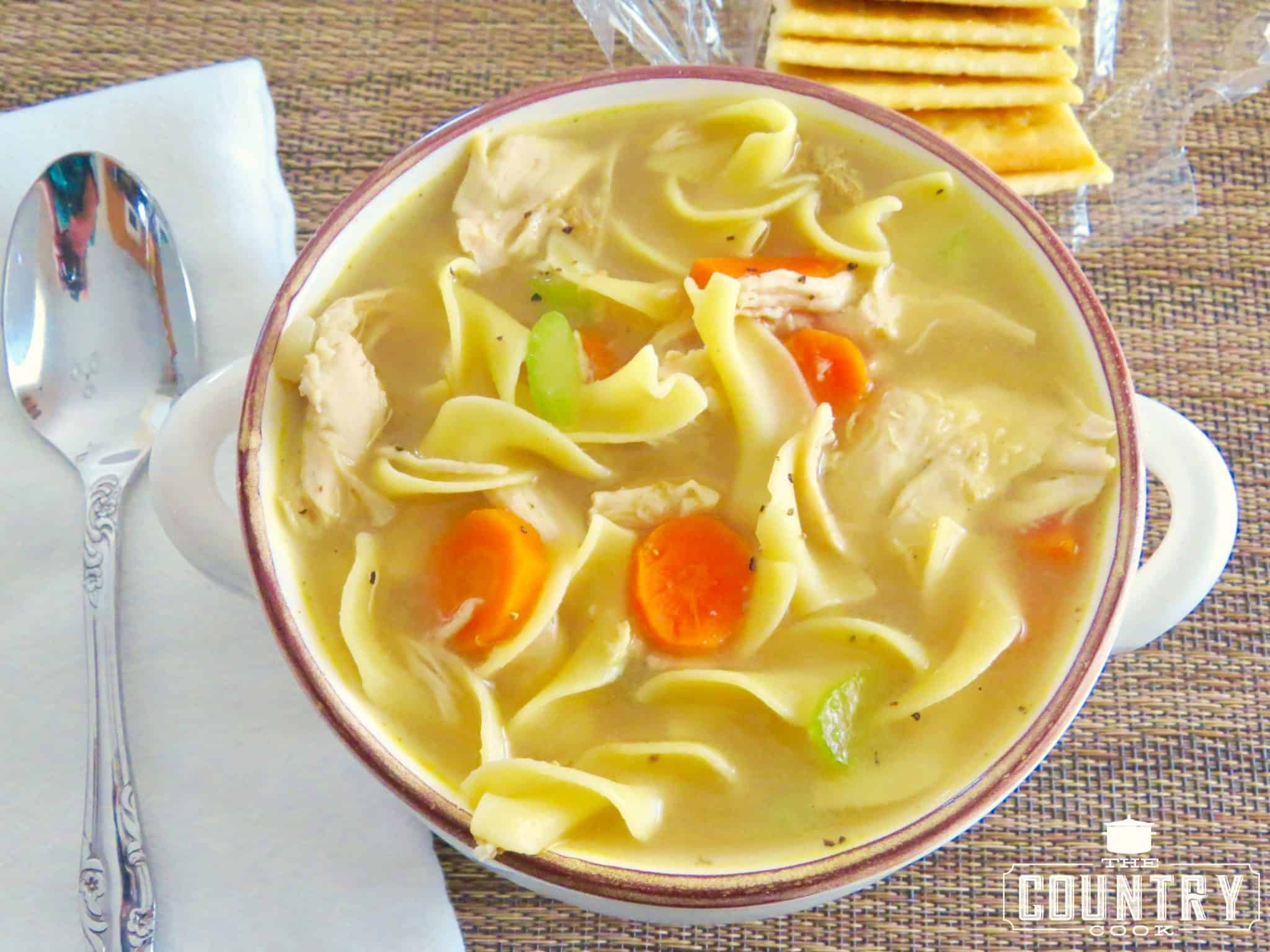 One-Pot Chicken Noodle Soup - The Country Cook