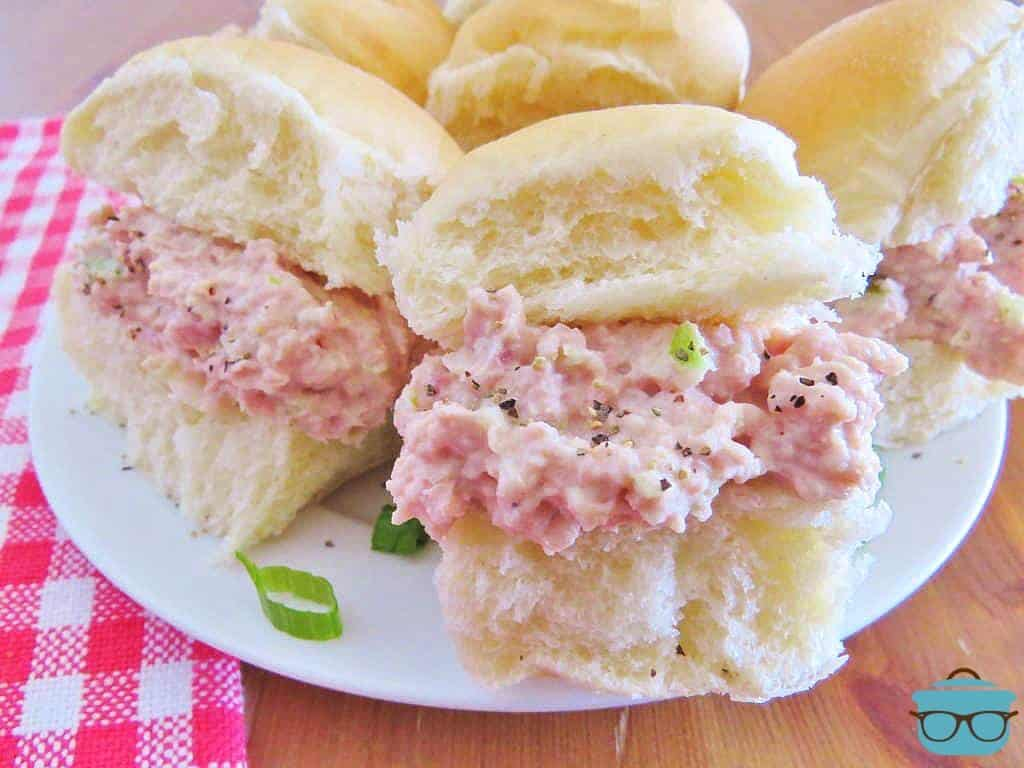 Best Ever Homemade Ham Salad on Rolls