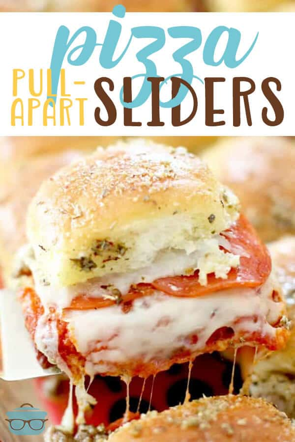 Amazingly delicious Pull-Apart Pizza Sliders recipe from The Country Cook #sandwiches #appetizer