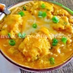 White Chicken Chili with Cornbread Dumplings