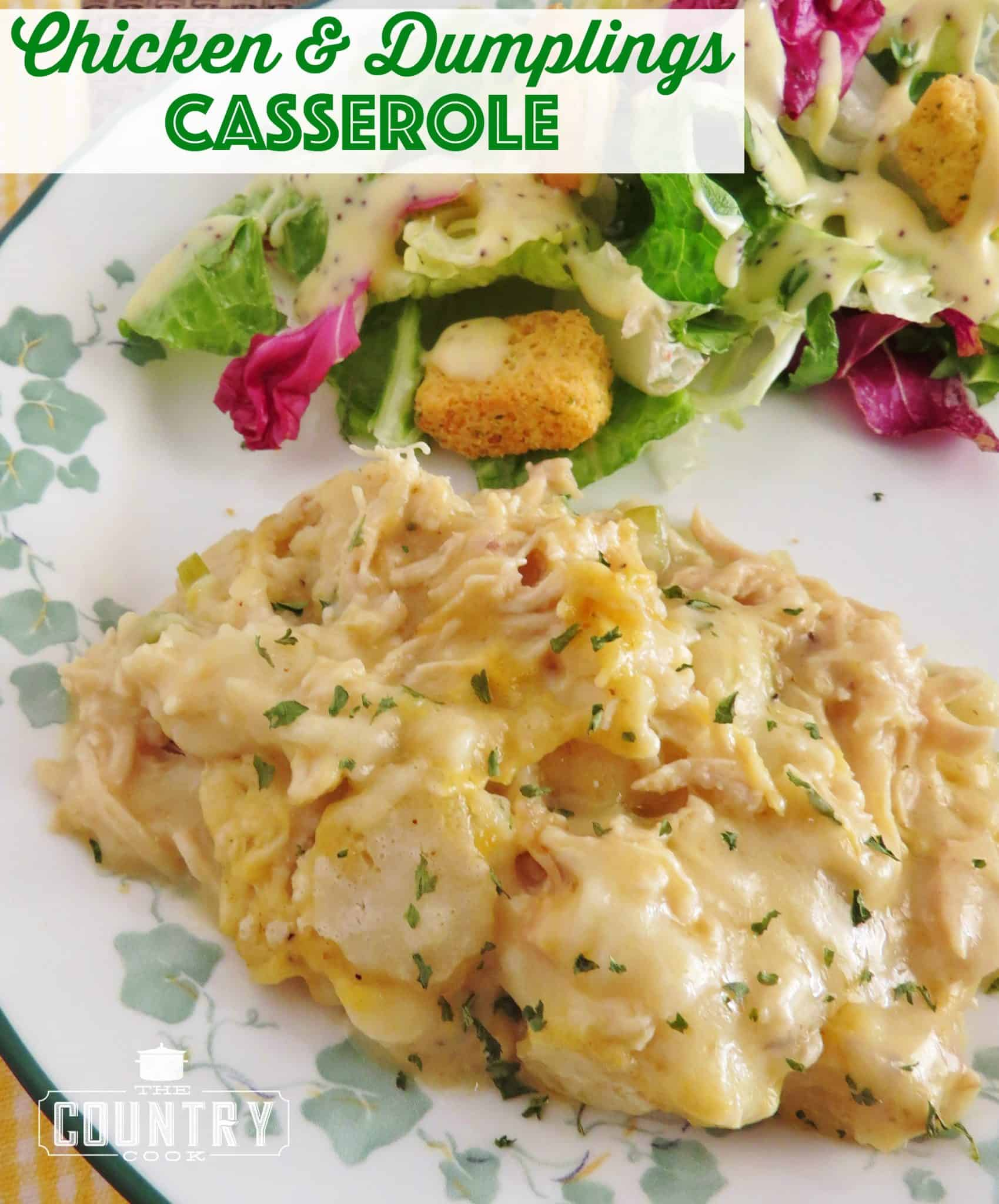 Chicken and dumplings casserole the country cook chicken and dumplings casserole forumfinder Choice Image