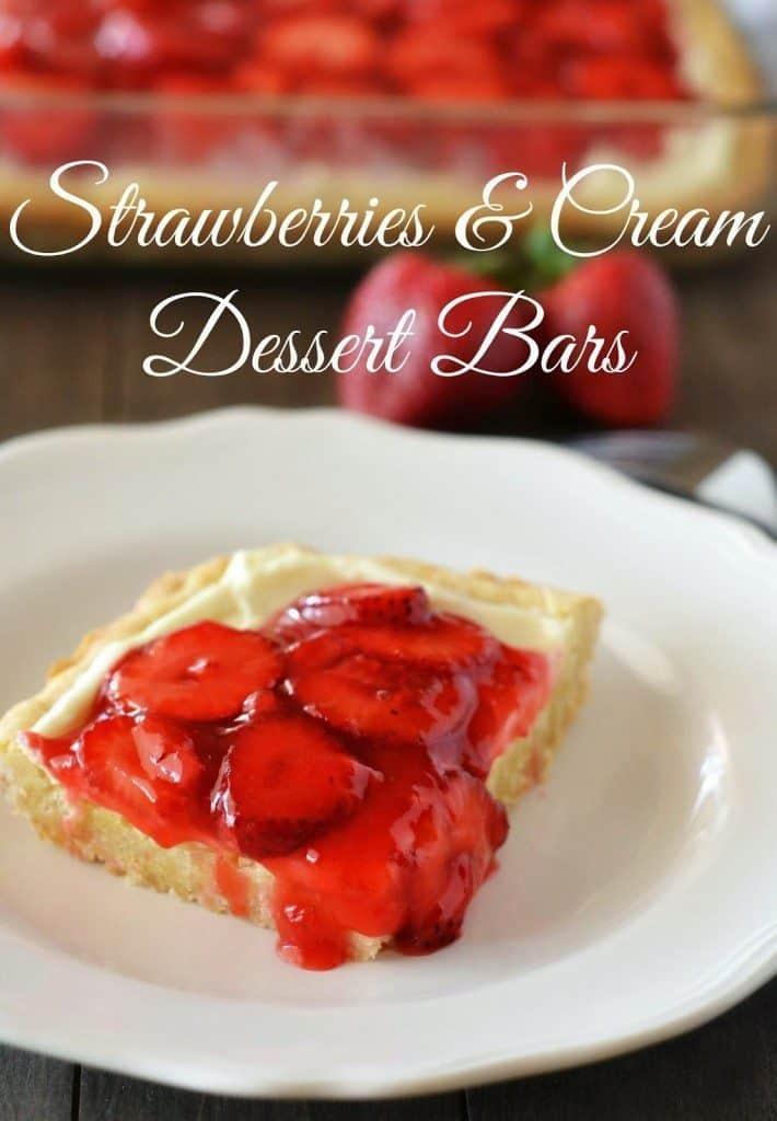 Strawberries and Cream Bars