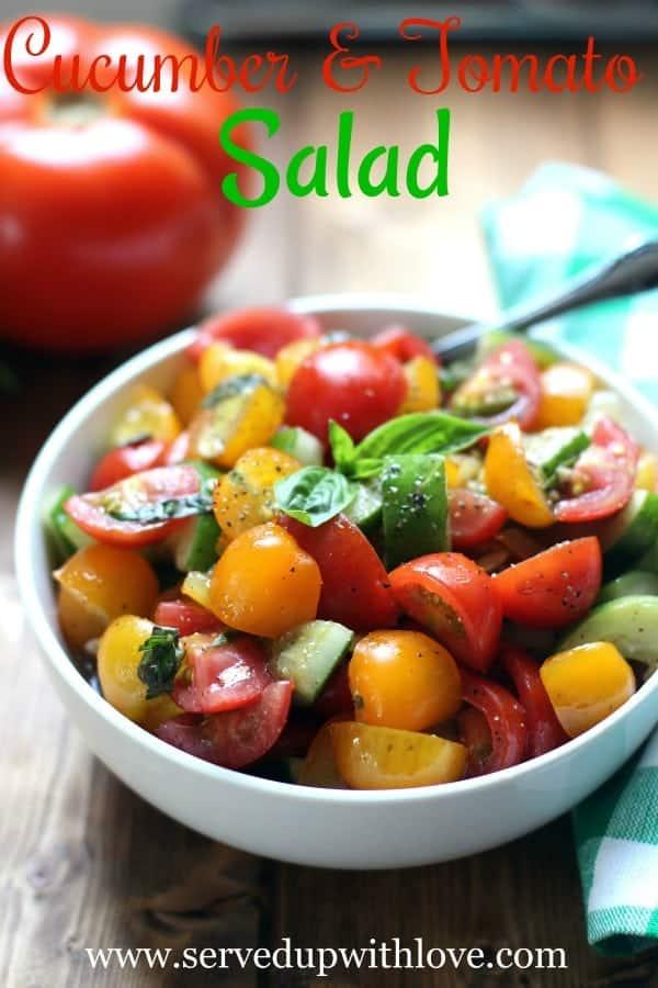 Marinated Cucumber & Tomato Salad recipe