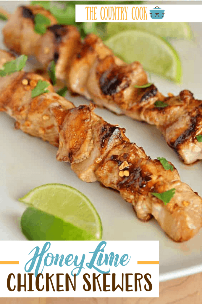 Grilled Honey Lime Chicken Skewers recipe