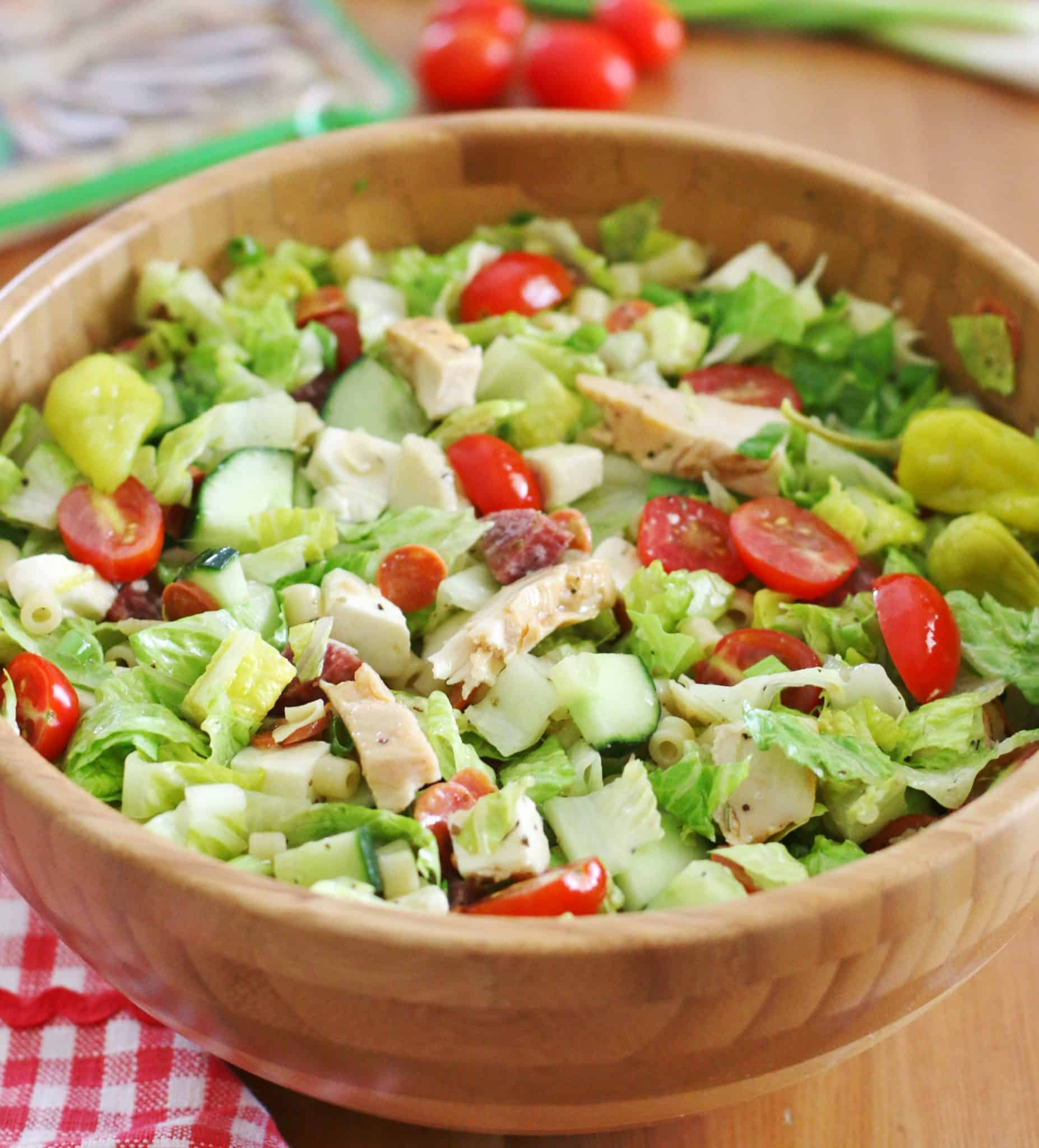 Italian Chopped Salad With Homemade Dressing