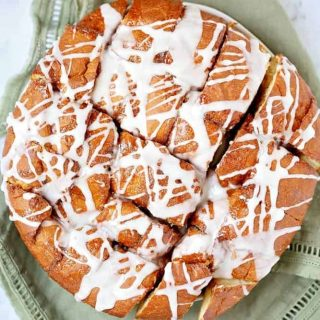 Easy Cinnamon Roll Pull Apart Bread recipe