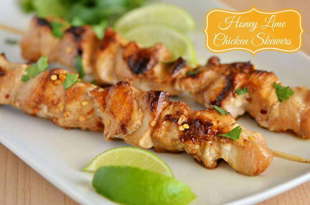 Grilled Honey Lime Chicken Skewers