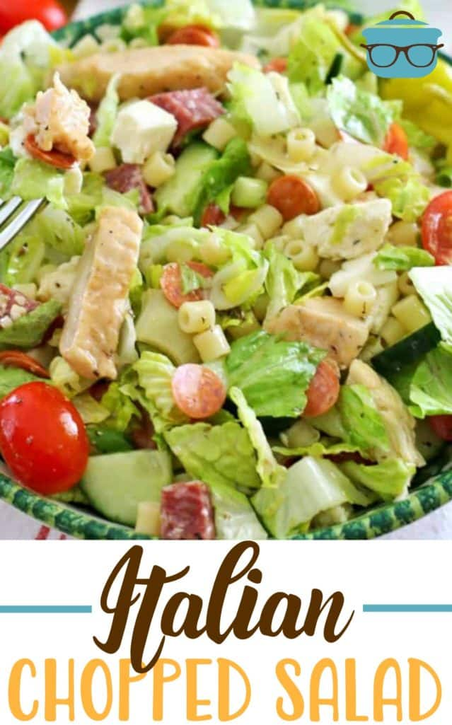 The Best Italian Chopped Salad recipe from The Country Cook