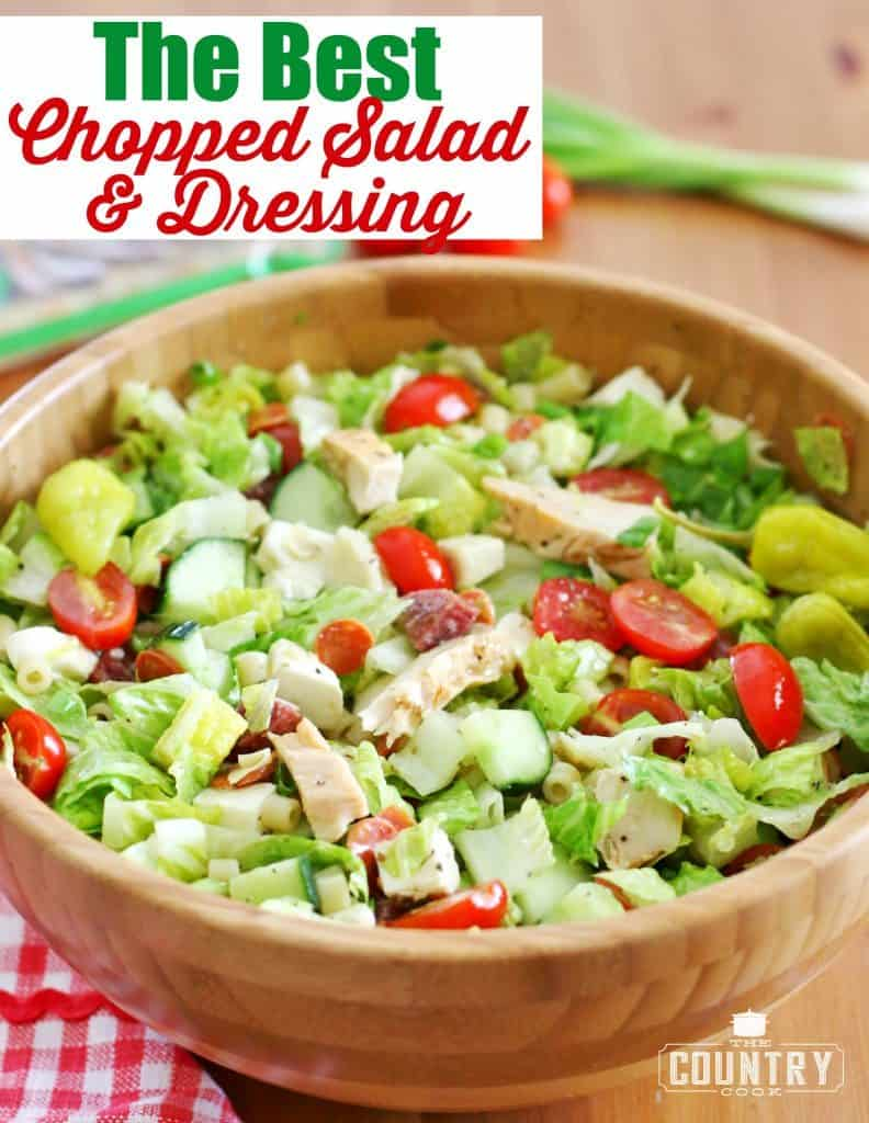 The Best Chopped Salad and Dressing