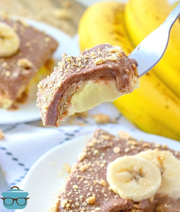 Chocolate, Vanilla, Banana, Graham Cracker No Bake Dessert