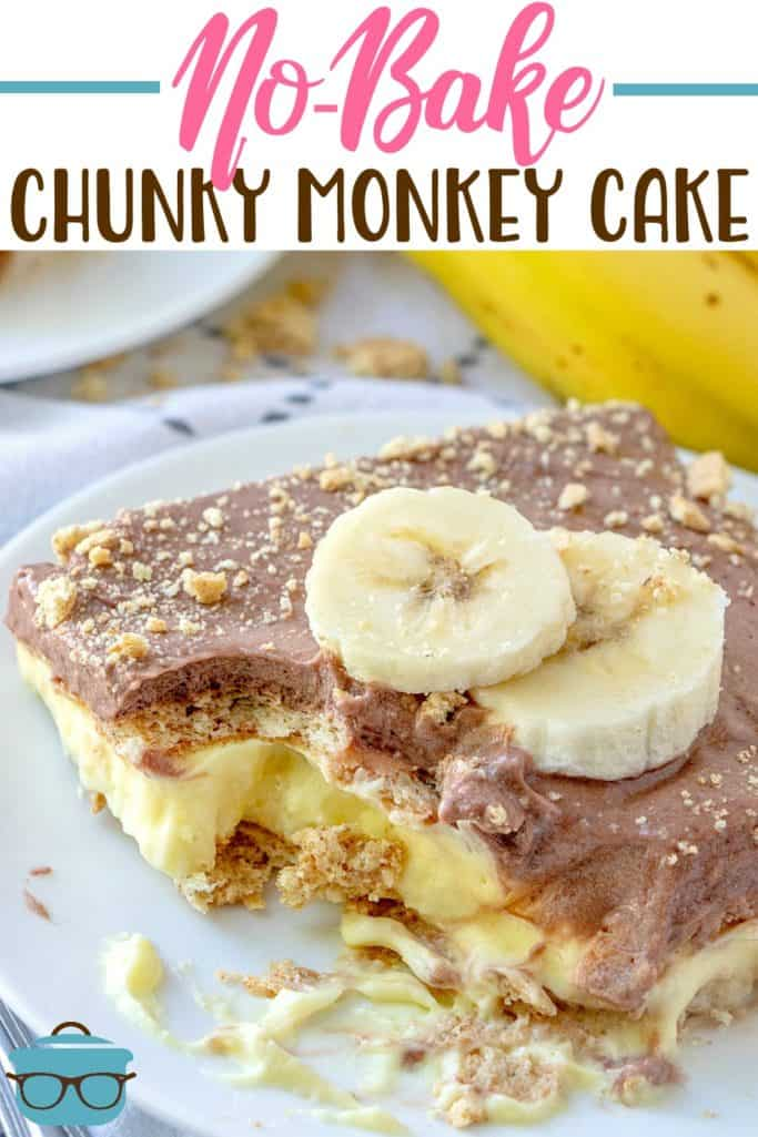 No-Bake Chunky Monkey Cake recipe from The Country Cook