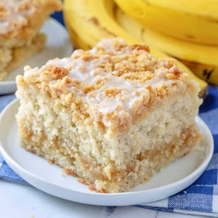 Banana Bread Crumb Cake recipe from The Country Cook