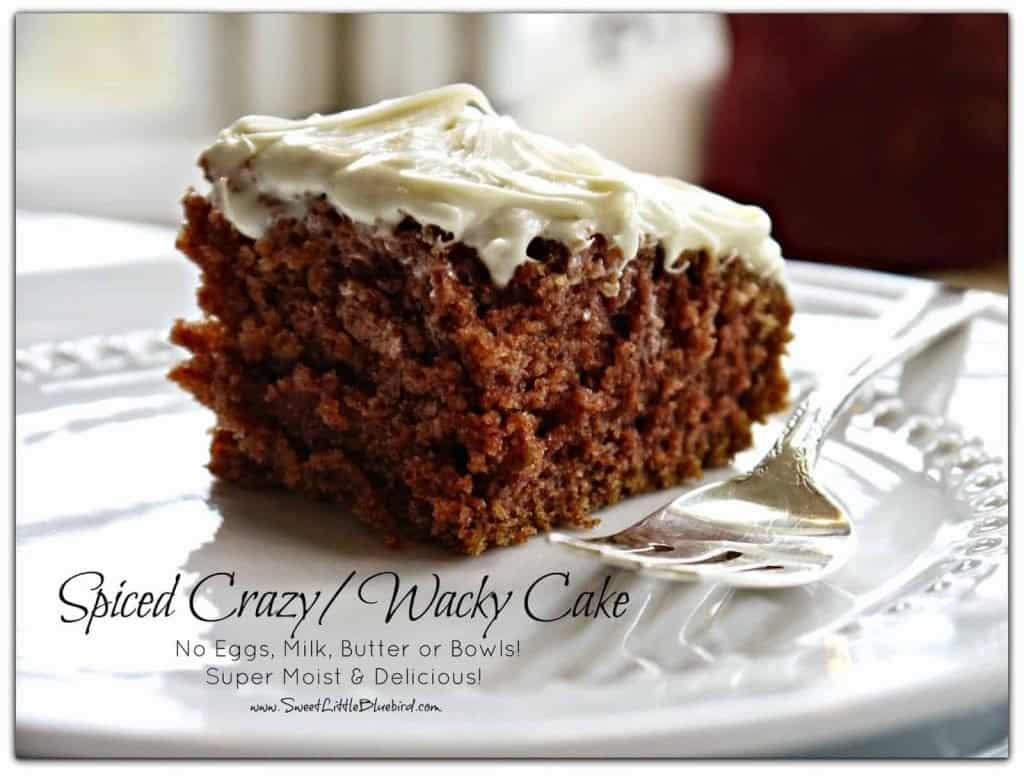 Spiced Crazy Wacky Cake recipe