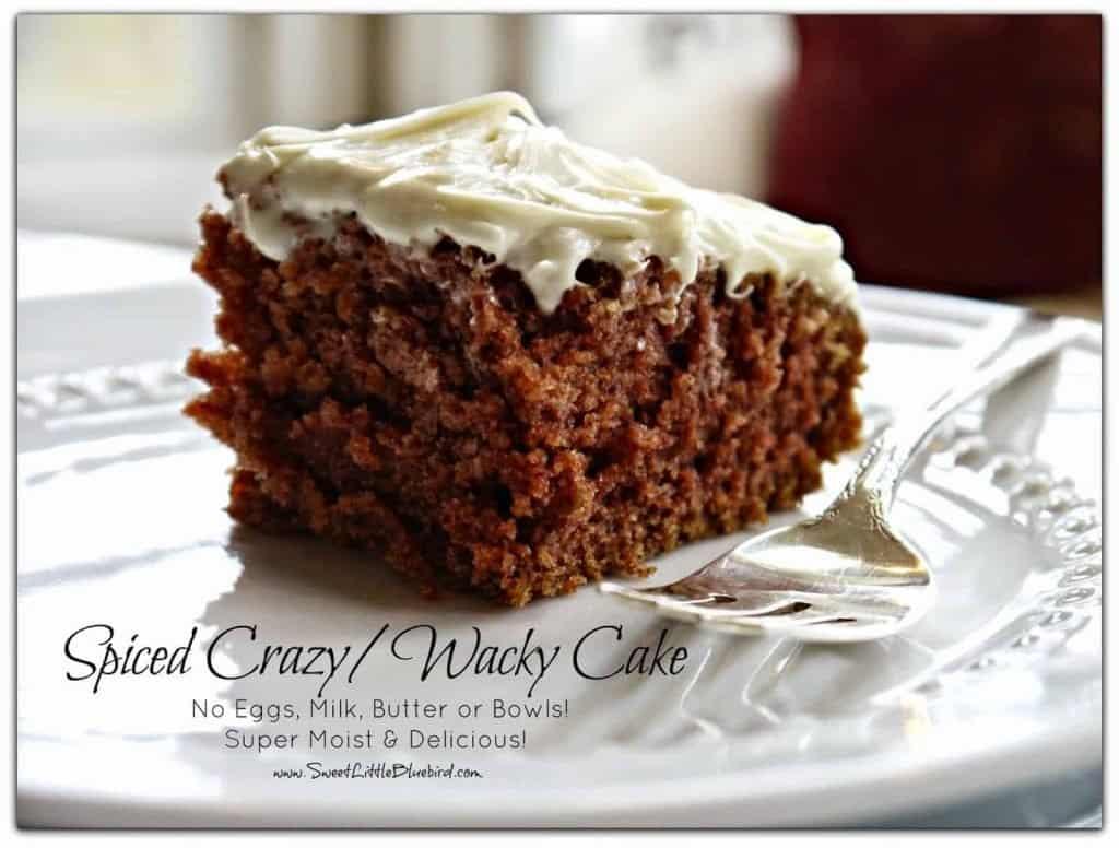 Spiced Crazy Wacky Cake recipe