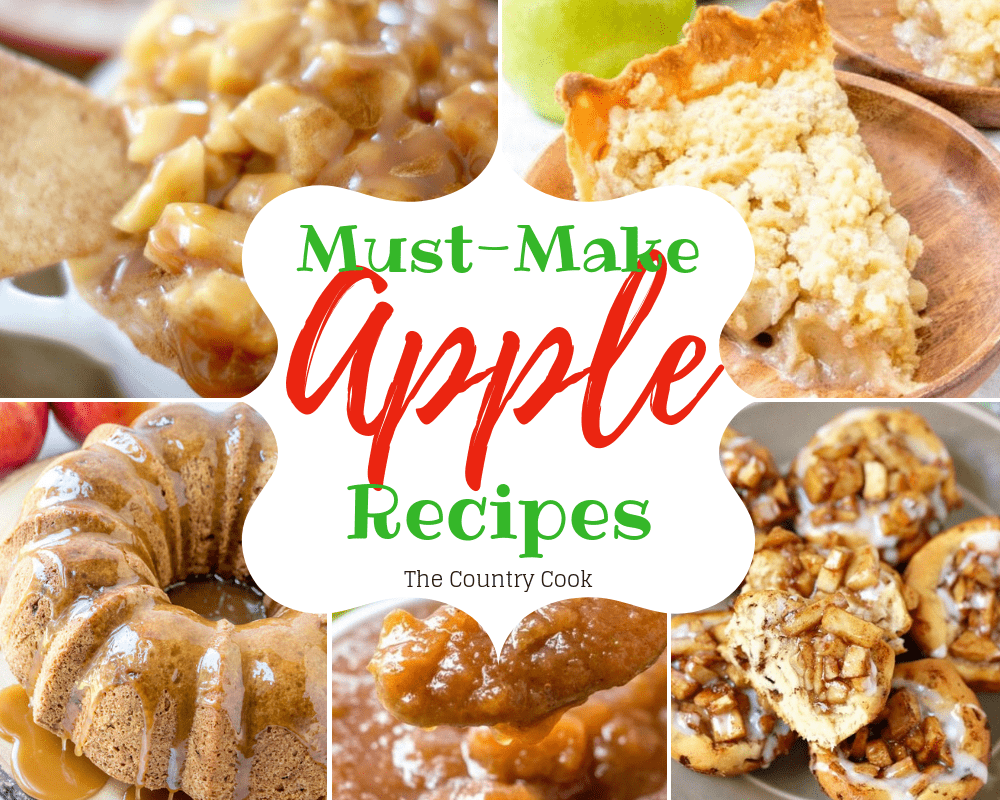 The 26 Best Must-Make Apple Recipes. From Caramel Apple Dip to Butter Crumble Apple Pie to super simple Apple Cinnamon Rolls. Grab those fresh apples!