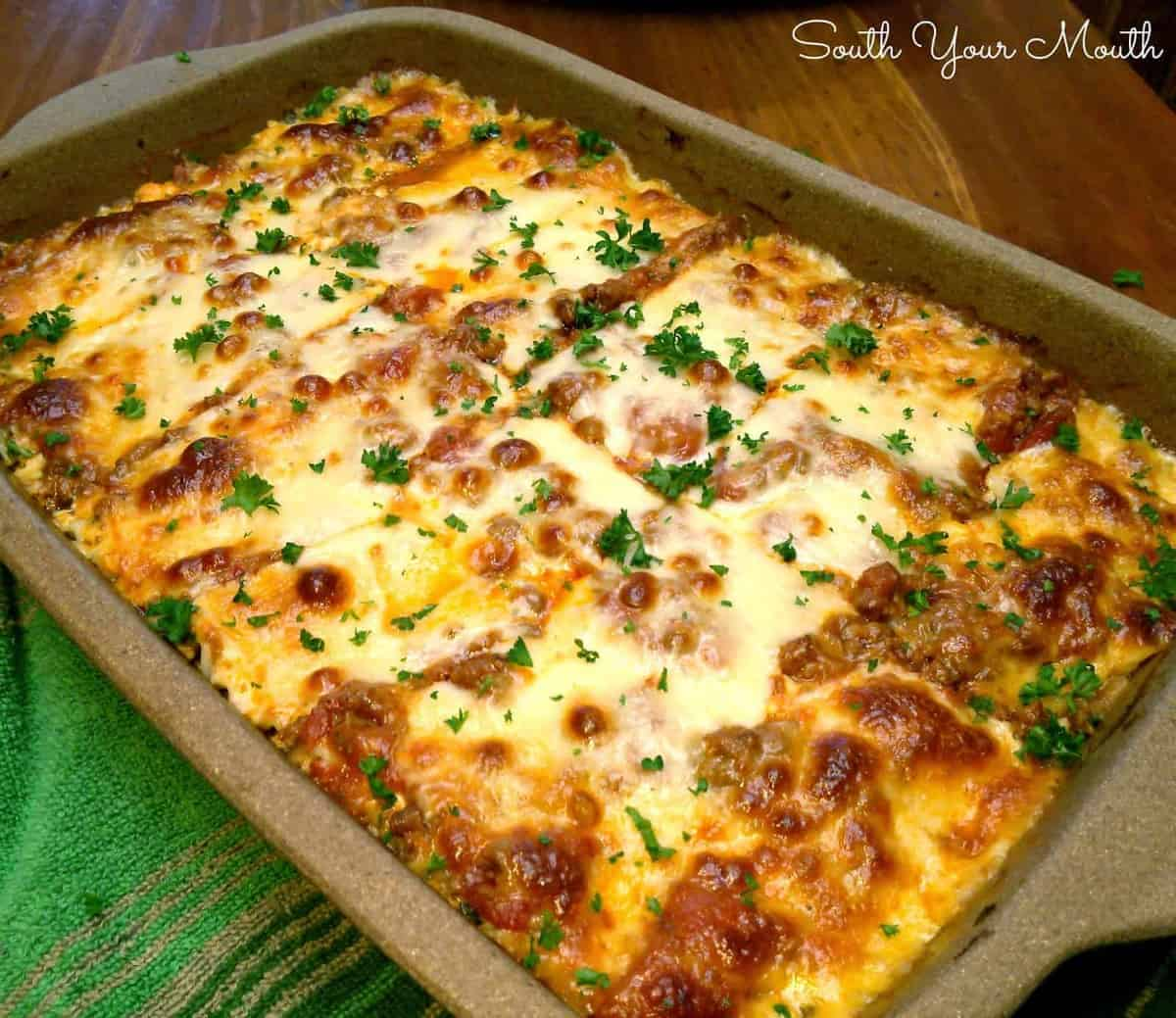 bubble up lasagna the country cook