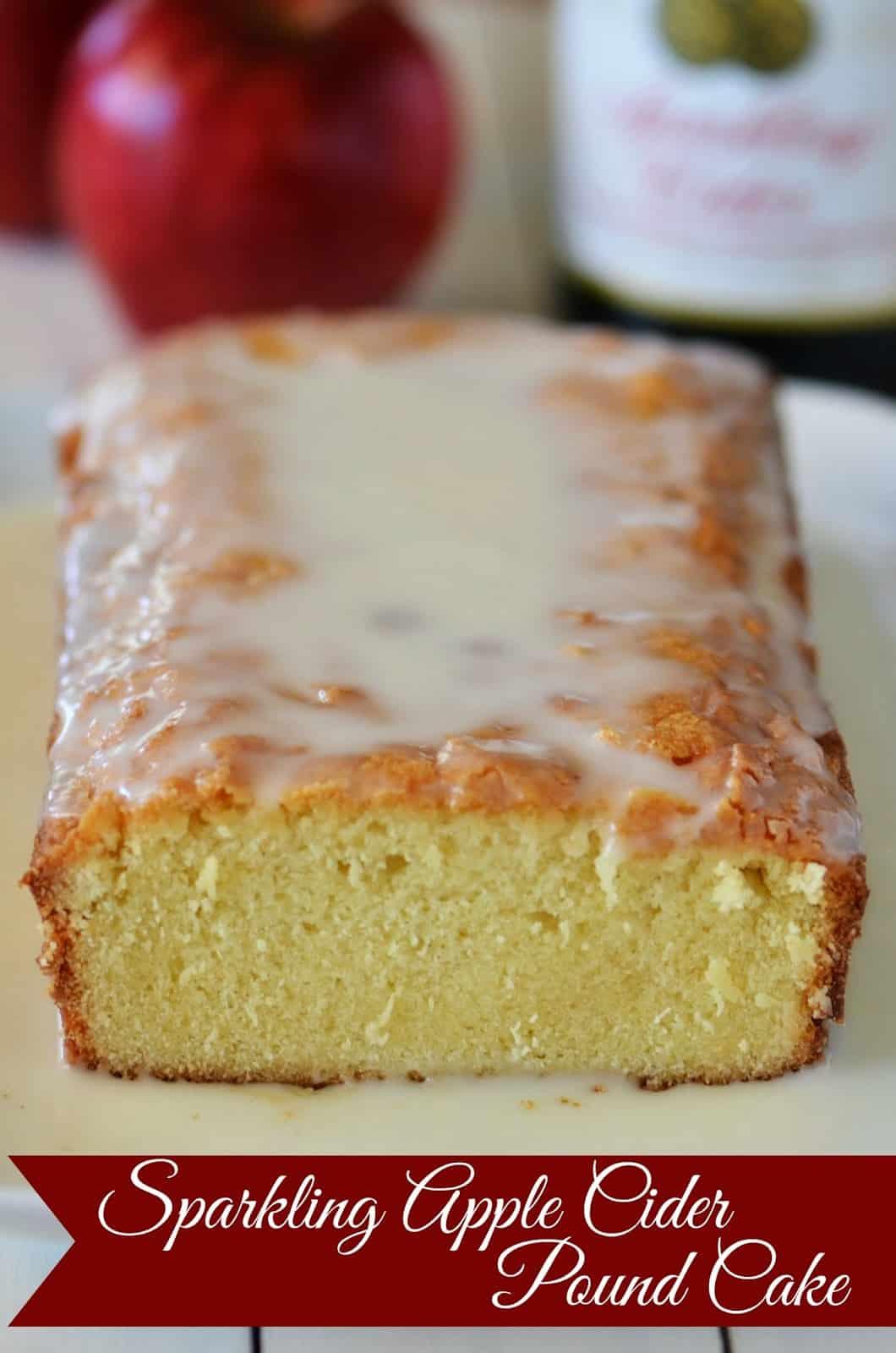 Apple Sparkling Cider Pound Cake