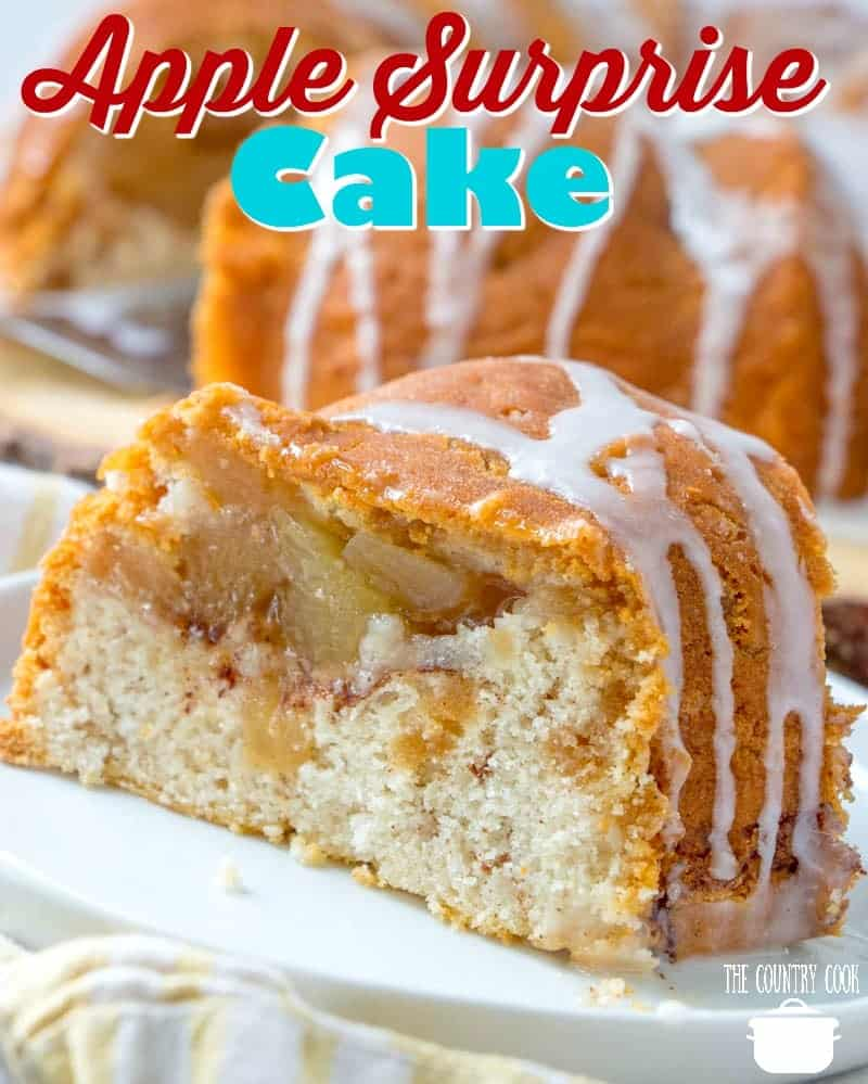Easy Apple Surprise Cake recipe from The Country Cook