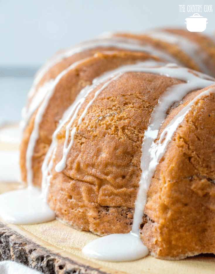 Apple Cider Cake with icing