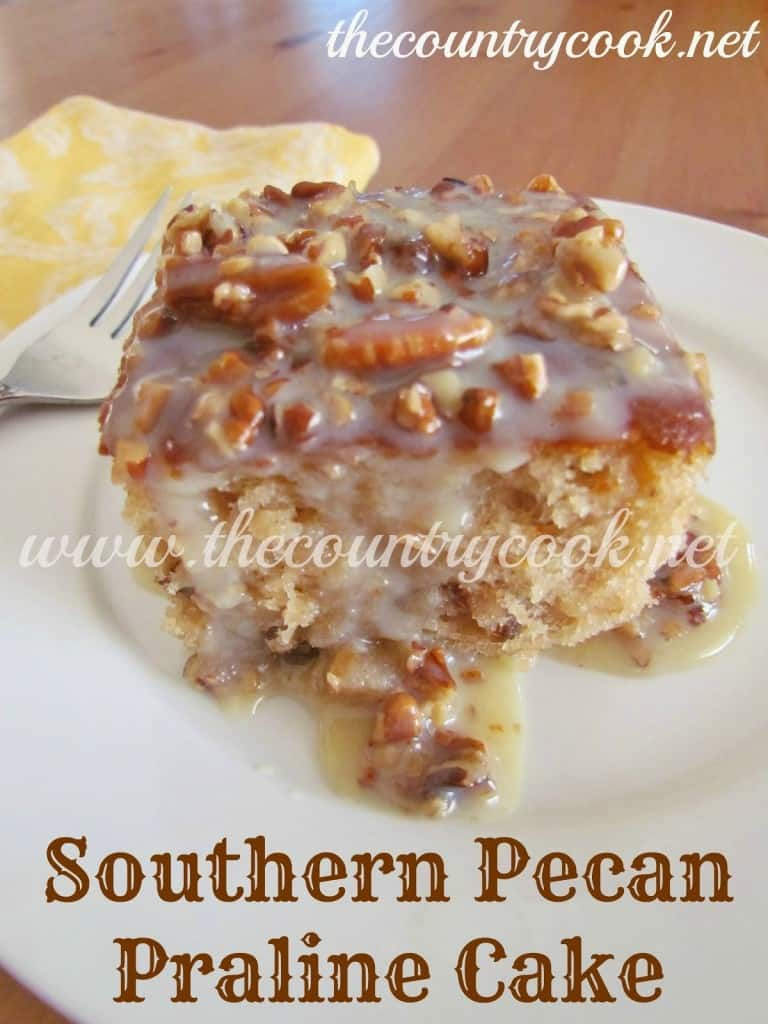 Homemade Pecan Praline Cake Recipe