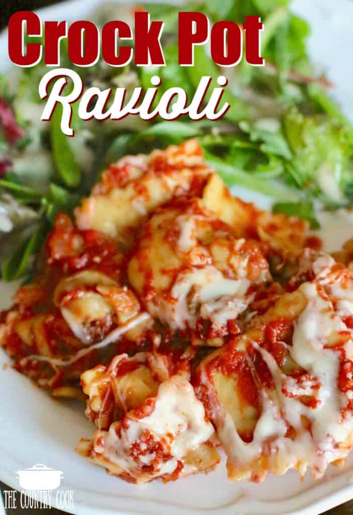 Crock Pot Ravioli recipe from The Country Cook