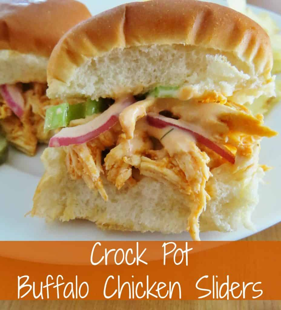 Crock Pot Buffalo Chicken Sliders
