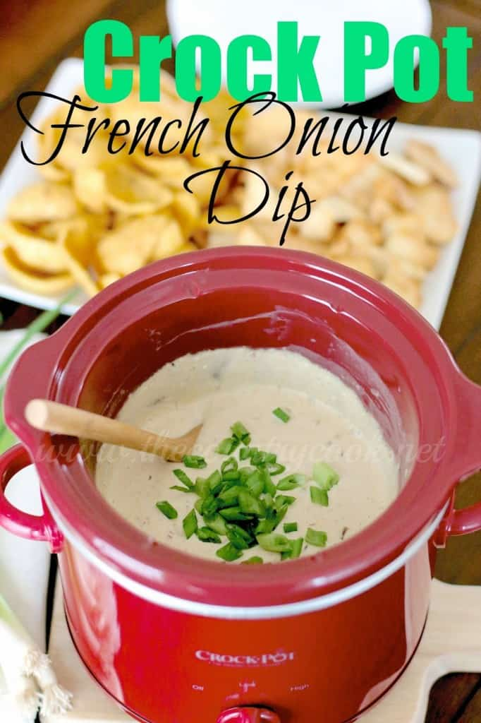 Crock Pot French Onion Dip recipe from The Country Cook