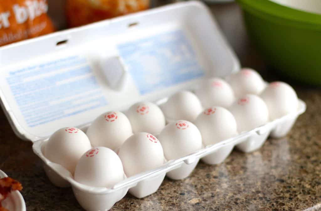 one dozen Eggland's Best eggs