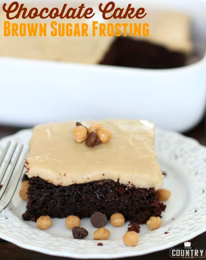 Chocolate Mayonnaise Cake with Brown Sugar Frosting