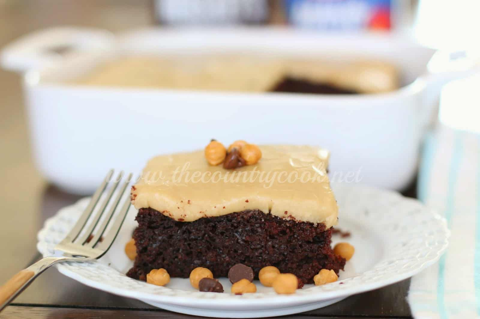 Chocolate Mayonnaise Cake with Brown Sugar Frosting - The Country Cook