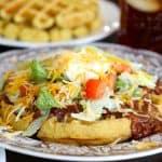 Cornbread Waffles with Chili & Fixins'