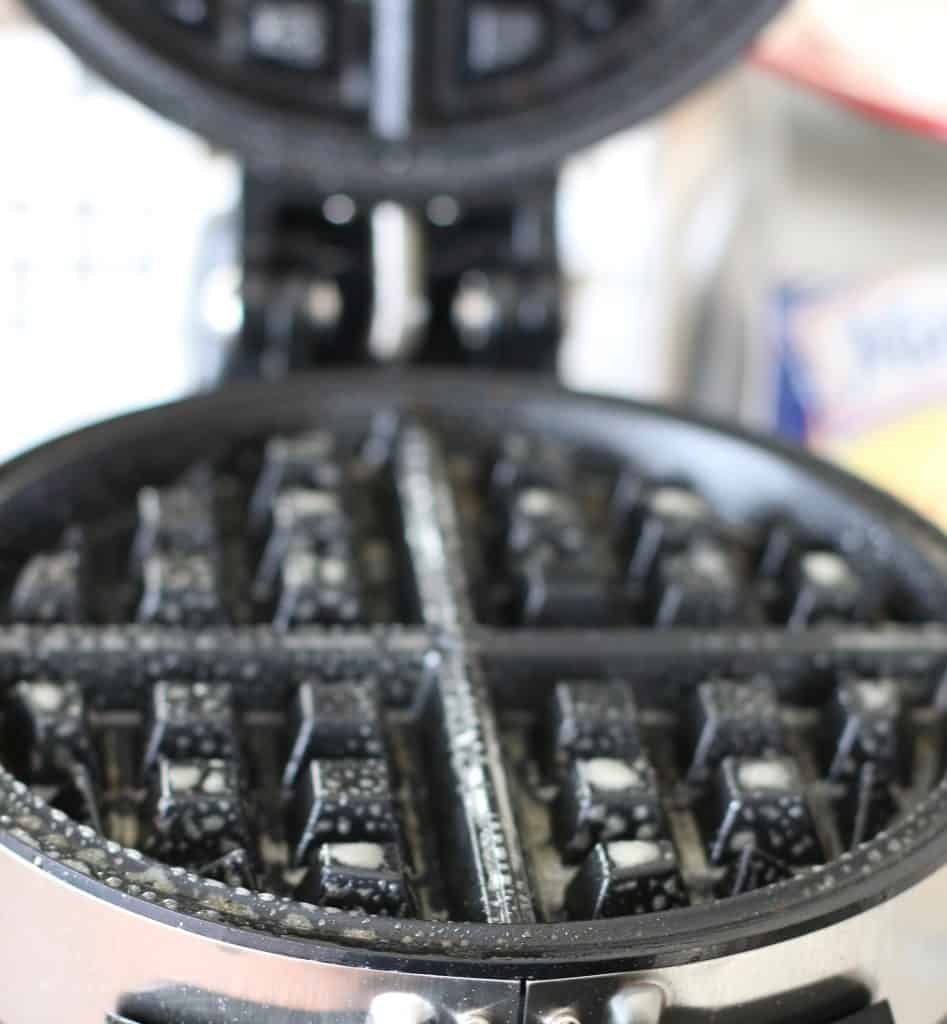 nonstick spray on waffle maker