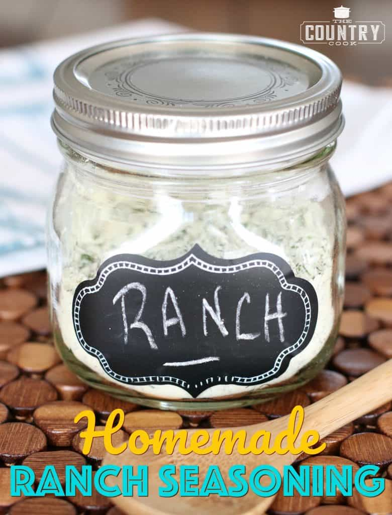 Homemade Ranch Seasoning pictured in a glass mason jar
